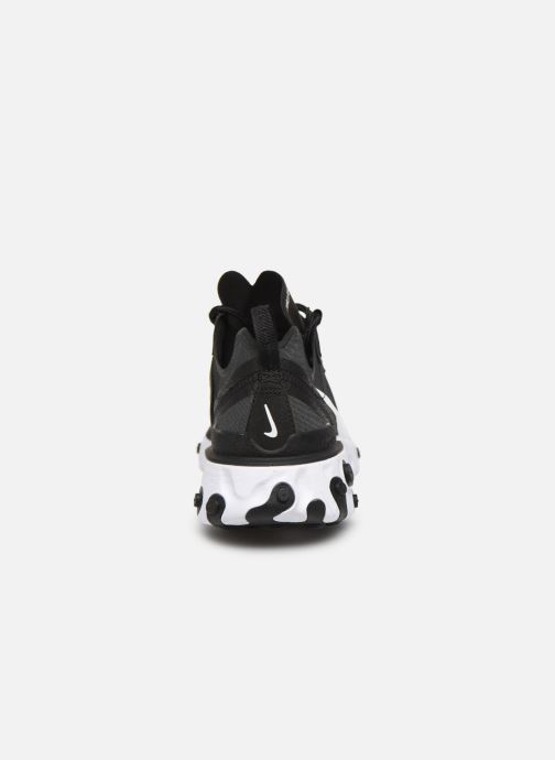 Deportivas Nike W Nike React Element 55 Negro vista lateral derecha