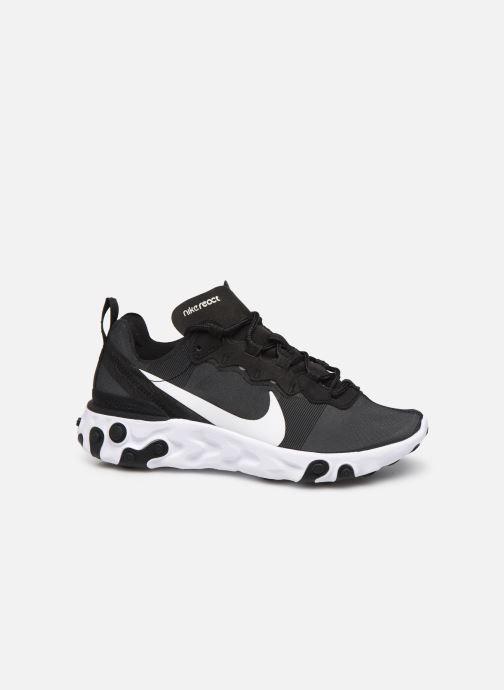 Deportivas Nike W Nike React Element 55 Negro vistra trasera