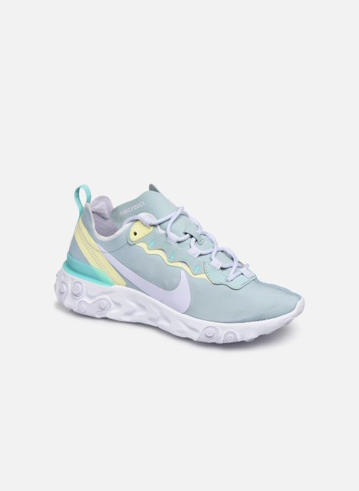 Baskets Nike W Nike React Element 55 Bleu vue détail/paire