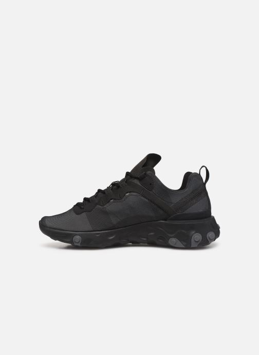 Sneakers Nike Nike React Element 55 Nero immagine frontale