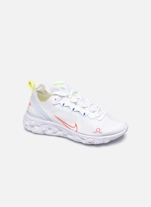 Nike Nike React Element 55 (Blanc) Baskets chez Sarenza