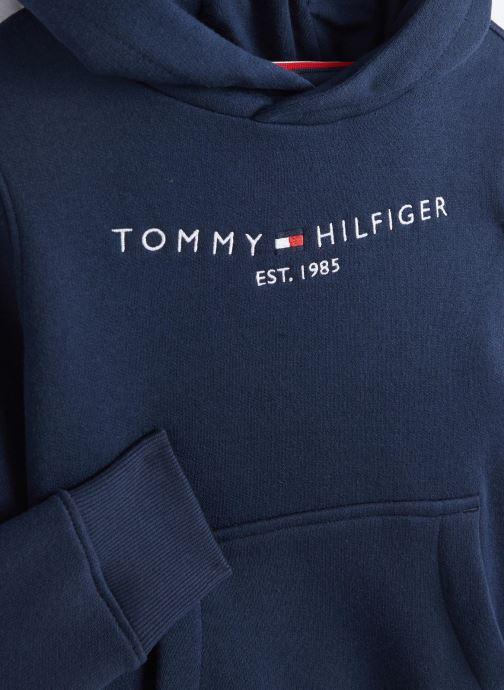 Vêtements Tommy Hilfiger Essential Hoodie Bleu vue portées chaussures