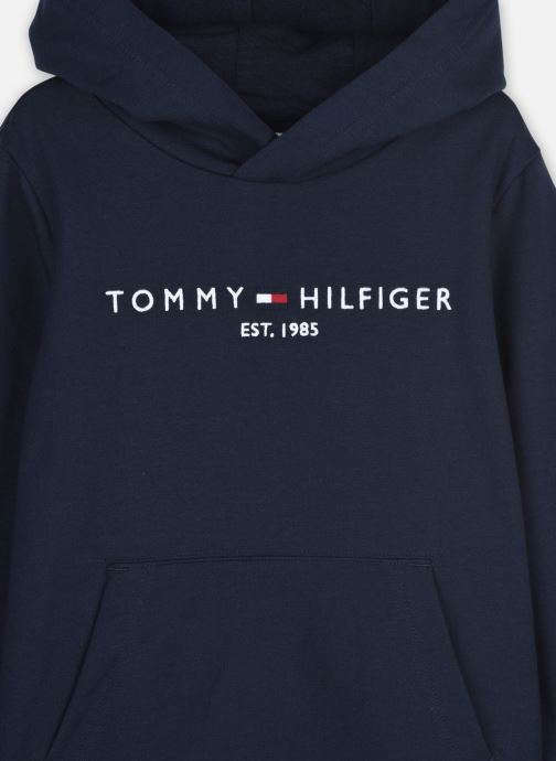Vêtements Tommy Hilfiger Essential Hoodie Bleu vue face