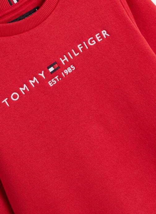 Vêtements Tommy Hilfiger Essential Cn Rouge vue portées chaussures