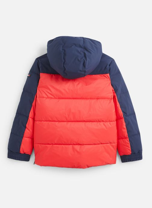 Vêtements Tommy Hilfiger Mixed Popover Jacket Rouge vue bas / vue portée sac