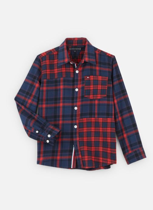 Vêtements Tommy Hilfiger Mixed Check Rouge vue détail/paire