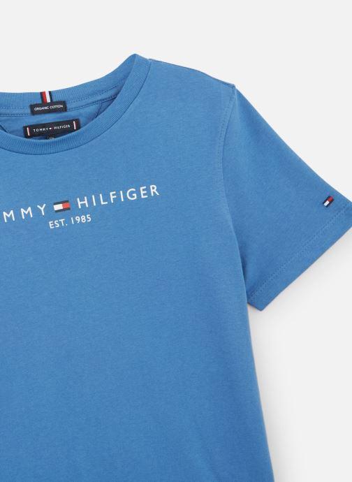 Vêtements Tommy Hilfiger Essential Hilfiger Tee S/S Bleu vue portées chaussures