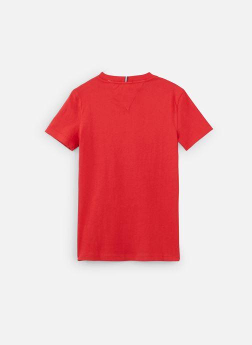 Vêtements Tommy Hilfiger Essential Hilfiger Tee S/S Rouge vue bas / vue portée sac