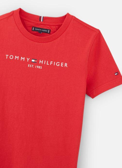 Vêtements Tommy Hilfiger Essential Hilfiger Tee S/S Rouge vue portées chaussures
