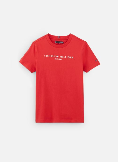 Vêtements Tommy Hilfiger Essential Hilfiger Tee S/S Rouge vue détail/paire