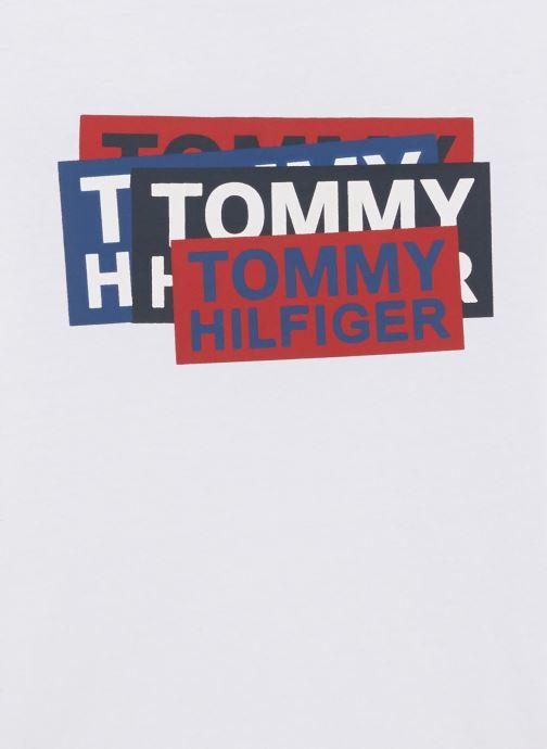 Kleding Tommy Hilfiger Aj Sticker Print Wit model