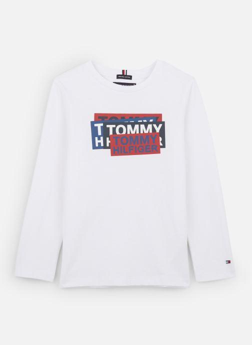 Vêtements Tommy Hilfiger Aj Sticker Print Blanc vue détail/paire