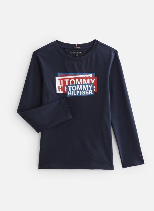 Vêtements Tommy Hilfiger Aj Sticker Print Bleu vue détail/paire