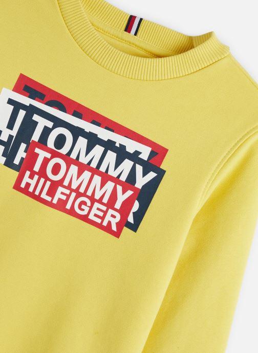 Vêtements Tommy Hilfiger Tommy Fun Gaming Jaune vue portées chaussures