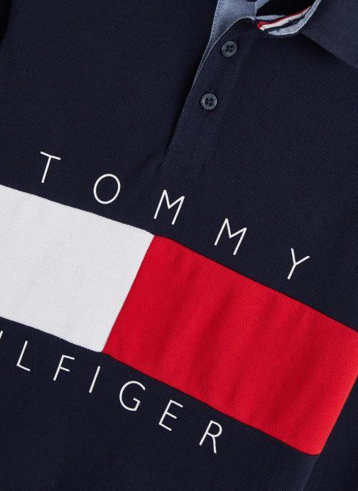 Vêtements Tommy Hilfiger Colorblock Polo Bleu vue portées chaussures