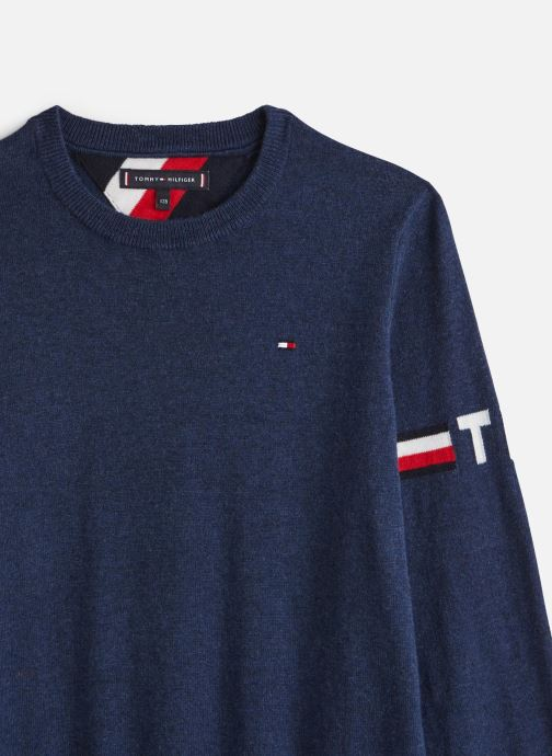 Vêtements Tommy Hilfiger Essential Cotton/Cashmere Sweater Bleu vue portées chaussures