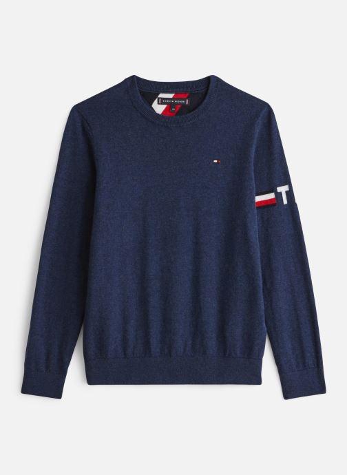 Vêtements Tommy Hilfiger Essential Cotton/Cashmere Sweater Bleu vue détail/paire