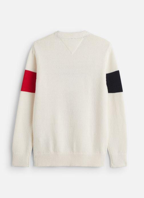 Vêtements Tommy Hilfiger H Badge Blanc vue bas / vue portée sac