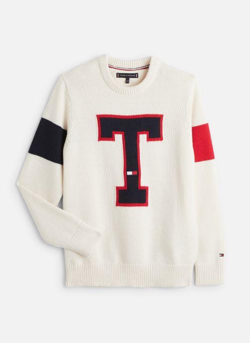 Vêtements Tommy Hilfiger H Badge Blanc vue détail/paire