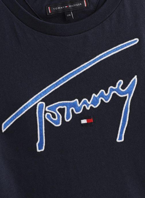 Vêtements Tommy Hilfiger Tommy Siganture Bleu vue portées chaussures