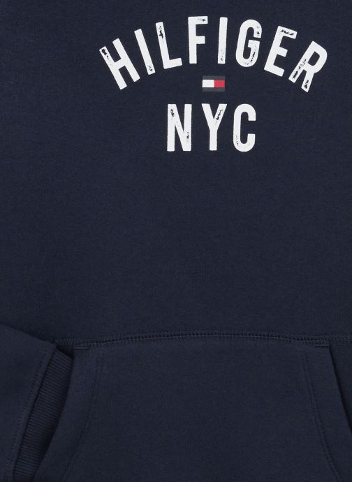 Vêtements Tommy Hilfiger Essential Hoodie Sweatdress Bleu vue portées chaussures