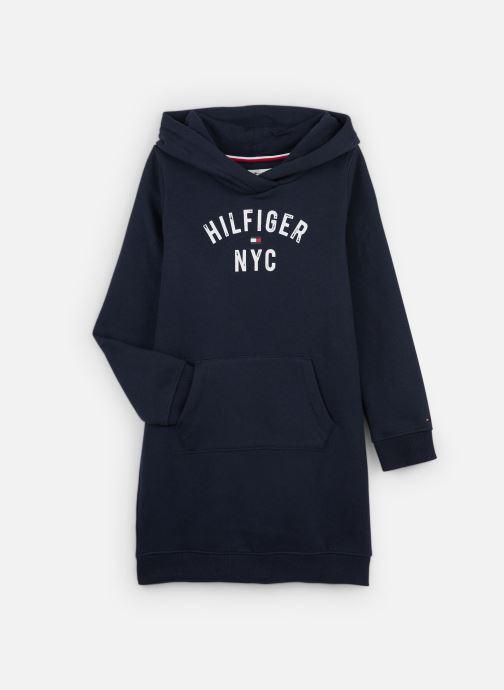 Vêtements Tommy Hilfiger Essential Hoodie Sweatdress Bleu vue détail/paire