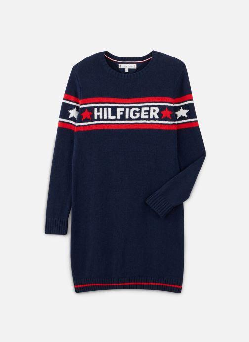 Kleding Tommy Hilfiger Graphic Tommy Star Sweater Dress Blauw detail