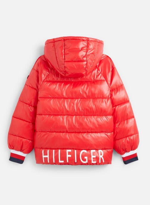 Vêtements Tommy Hilfiger High Shine Puffer Rouge vue bas / vue portée sac