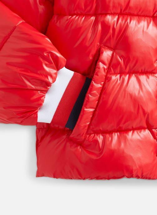 Vêtements Tommy Hilfiger High Shine Puffer Rouge vue portées chaussures