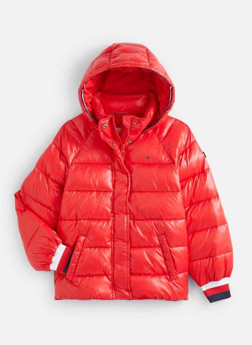 Vêtements Tommy Hilfiger High Shine Puffer Rouge vue détail/paire
