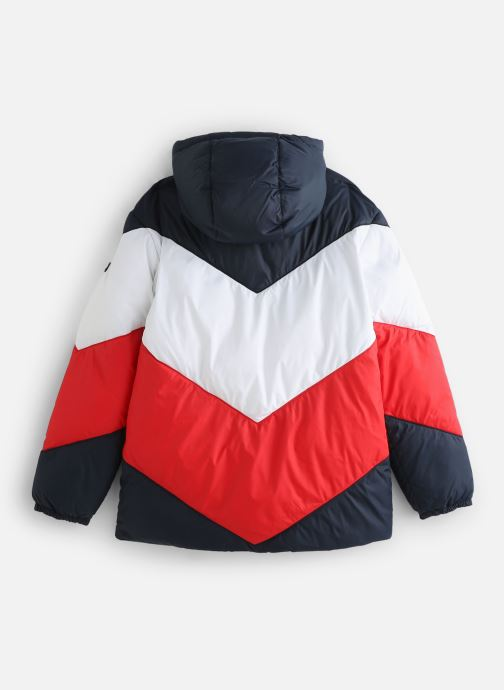 Vêtements Tommy Hilfiger Reversible Recycled Tommy Puffer Bleu vue bas / vue portée sac