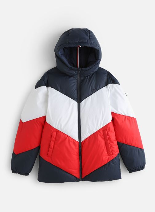 Vêtements Tommy Hilfiger Reversible Recycled Tommy Puffer Bleu vue détail/paire
