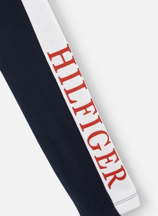 Vêtements Tommy Hilfiger Essential Logo Legging Bleu vue portées chaussures