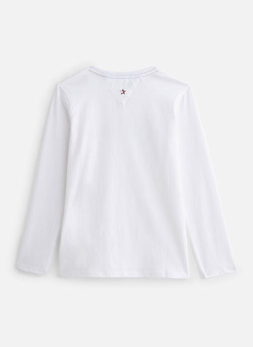 Vêtements Tommy Hilfiger Essential Hilfiger Tee L/S Blanc vue bas / vue portée sac