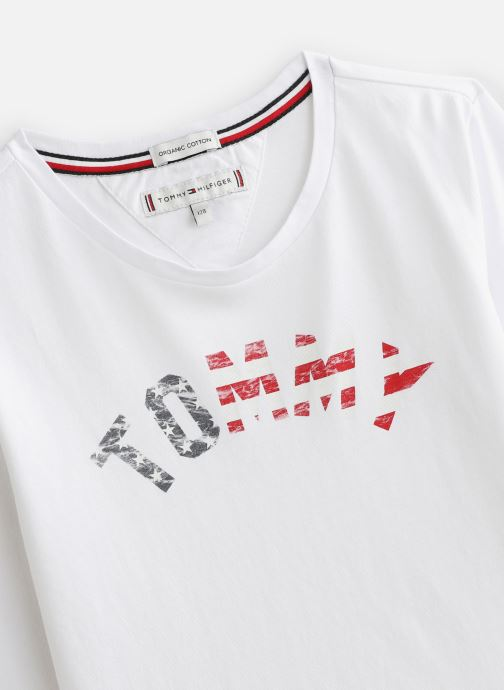 Vêtements Tommy Hilfiger Essential Hilfiger Tee L/S Blanc vue portées chaussures