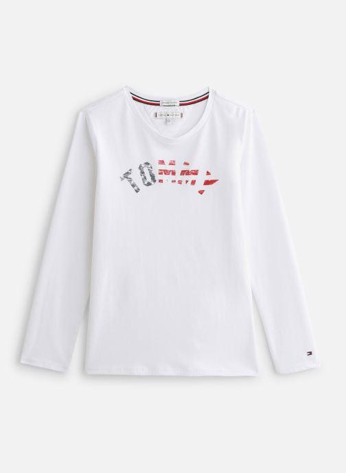Vêtements Tommy Hilfiger Essential Hilfiger Tee L/S Blanc vue détail/paire