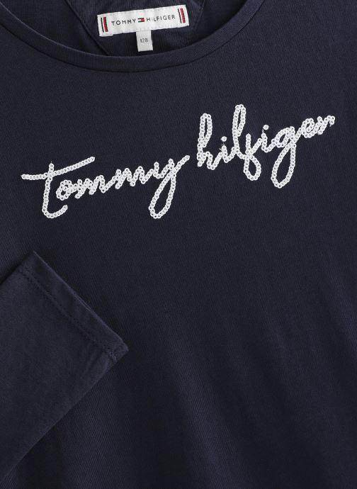 Vêtements Tommy Hilfiger Sequins Graphic Bleu vue portées chaussures
