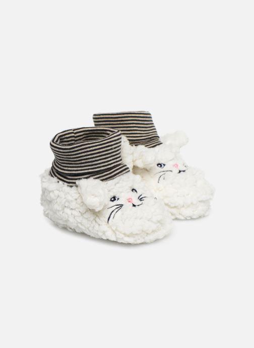 Pantuflas Milk On The Rocks Berry  Slippers Bunny Blanco vista de detalle / par