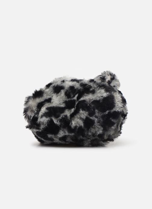 Pantuflas Milk On The Rocks Berry Slippers Leopard Blanco vista de arriba