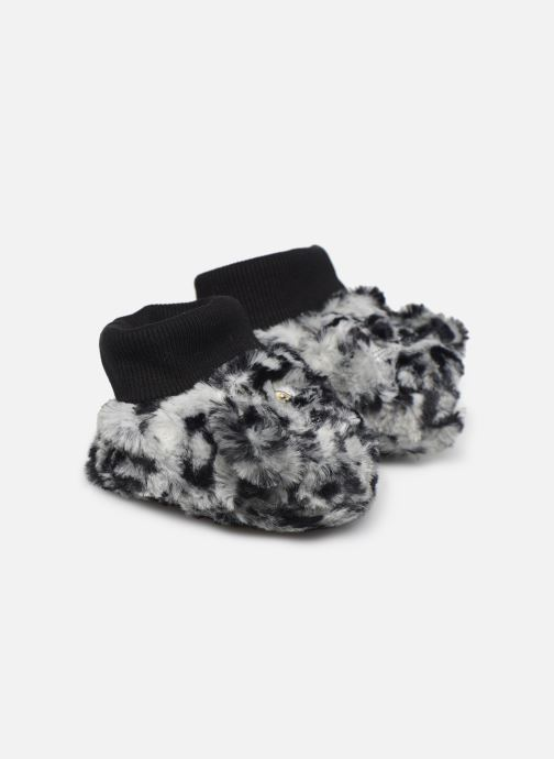 Pantuflas Milk On The Rocks Berry Slippers Leopard Blanco vista de detalle / par