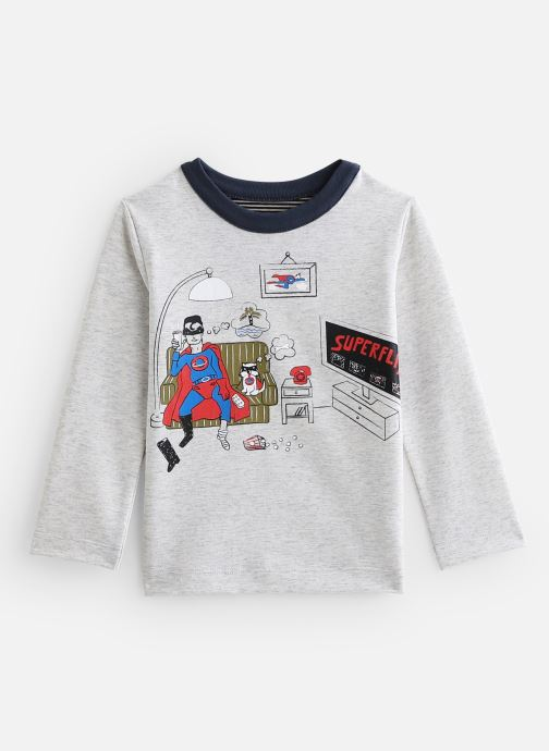 Abbigliamento Milk On The Rocks Tom T-Shirt Superflix Grigio vedi dettaglio/paio