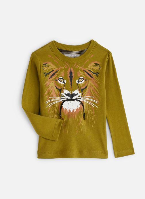 Vêtements Milk On The Rocks Tom T-Shirt Vegan Lion Vert vue détail/paire
