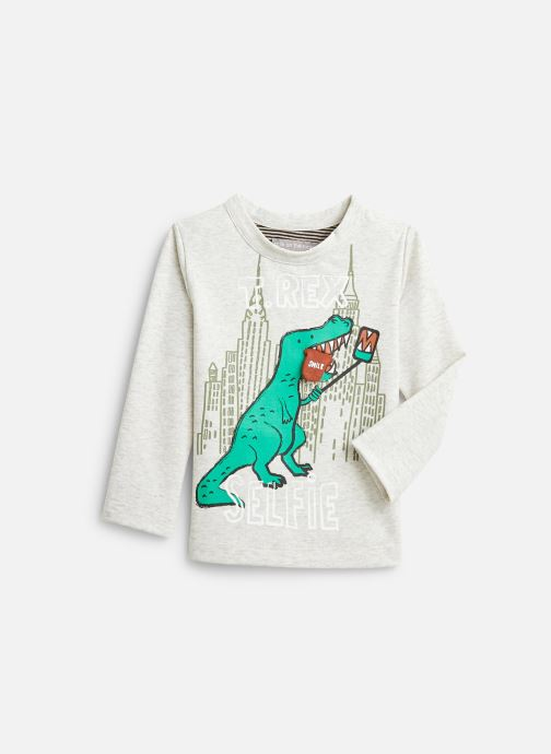 Vêtements Milk On The Rocks Tom T-Shirt Dino Selfie Gris vue détail/paire