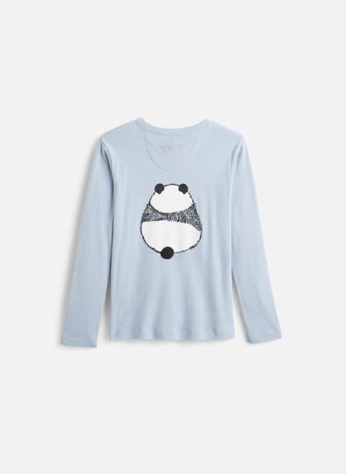 Vêtements Milk On The Rocks Tom T-Shirt Panda Donuts Bleu vue bas / vue portée sac