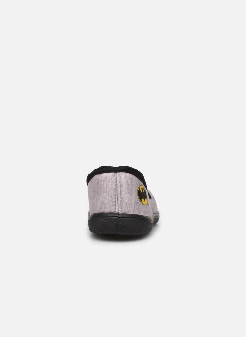 Pantuflas Batman Bat Bazar Gris vista lateral derecha