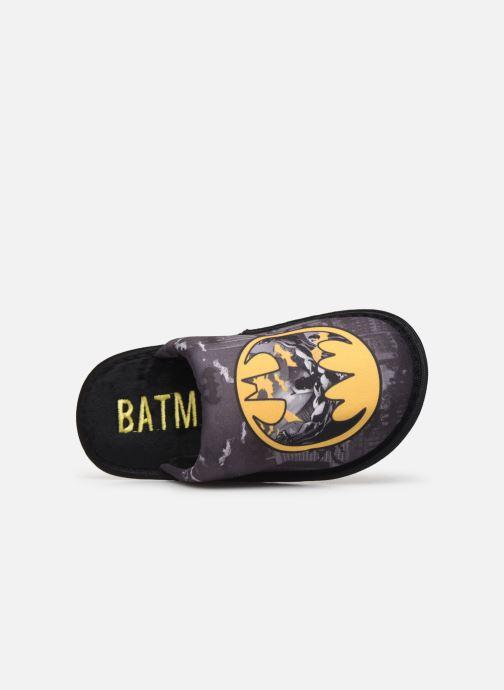 Pantuflas Batman Bat Beethov Gris vista lateral izquierda