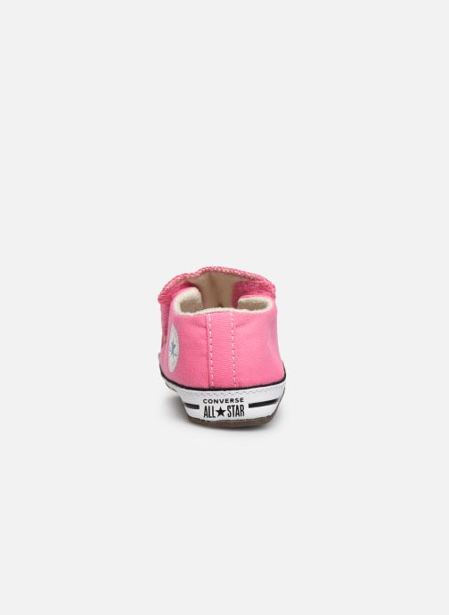 Deportivas Converse Chuck Taylor All Star Cribster Canvas Mid Rosa vista lateral derecha