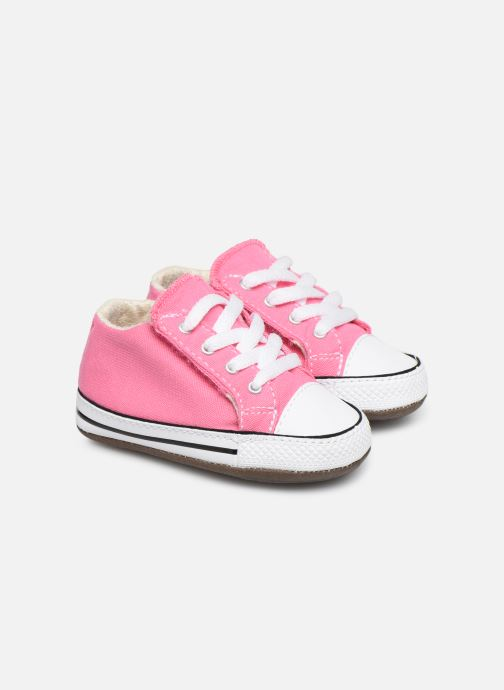Baskets Converse Chuck Taylor All Star Cribster Canvas Mid Rose vue détail/paire
