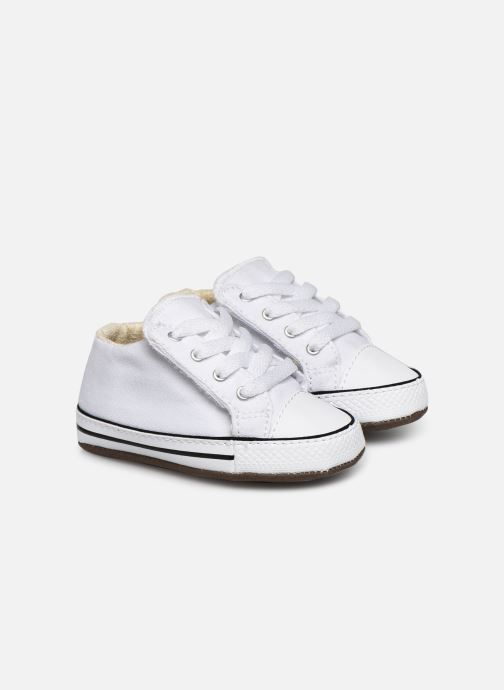 Baskets Converse Chuck Taylor All Star Cribster Canvas Mid Blanc vue détail/paire