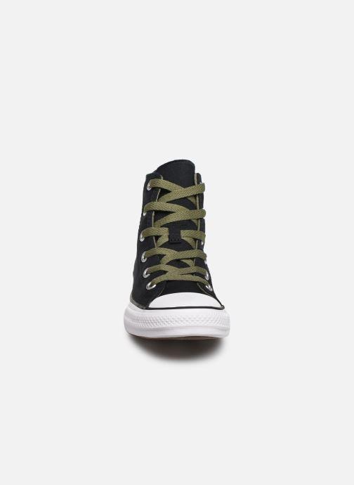 Sneaker Converse Chuck Taylor All Star Dino Spikes Hi schwarz schuhe getragen